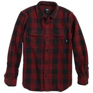 New Men's Vans Wisner Buffalo Plaid Twill Shirt